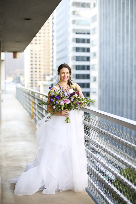 Wilshire Loft-Los Angeles California-city-city wedding-downtown wedding-skyscraper-skyline-view-purple-bouquet-the blushing details-wedding dress-destination wedding photographer-bobbie-pyle-photography-wedding-35