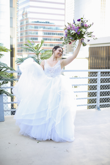 Wilshire Loft-Los Angeles California-city-city wedding-downtown wedding-skyscraper-skyline-view-purple-bouquet-the blushing details-wedding dress-destination wedding photographer-bobbie-pyle-photography-wedding-39