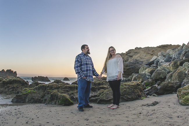 Leo Carillo State Beach-Malibu-California-Sunset Engagement Photos-beach wedding-bobbie-pyle-photography-wedding-3