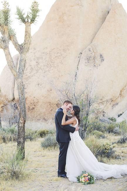renew vows-Joshua Tree-California-desert-cave-flowers-engagement-moon-sunset-wedding-elopement-bobbie-pyle-photography-wedding-los angeles wedding photographer-4